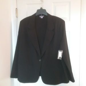 NWT Black 3X One Button Jacket Final Price